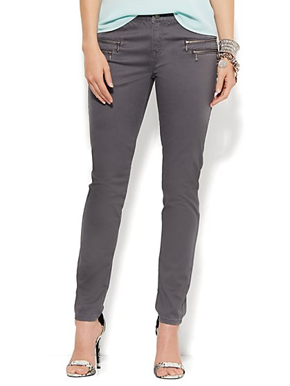 Soho Seamed Zip-Accent Legging - New York & Company