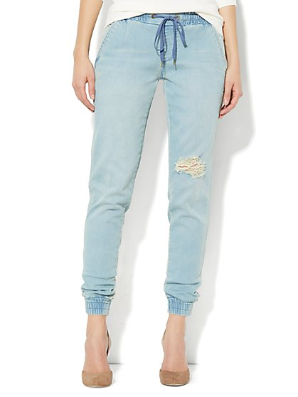 Soho Soft Jogger Jean - Destroyed Accent - New York & Company