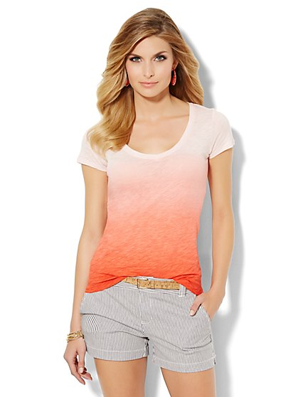 Soho Soft Ombré Tee  - New York & Company