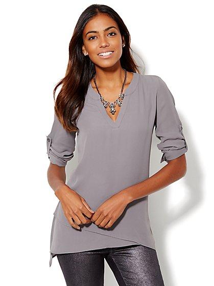 Soho Soft Shirt - Asymmetrical Tiered Tunic - New York & Company