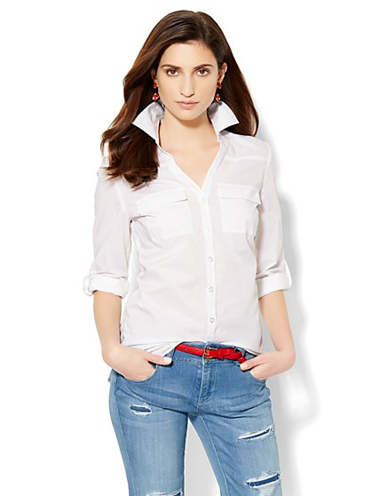 Soho Soft Shirt - Button-Back - Solid  - New York & Company