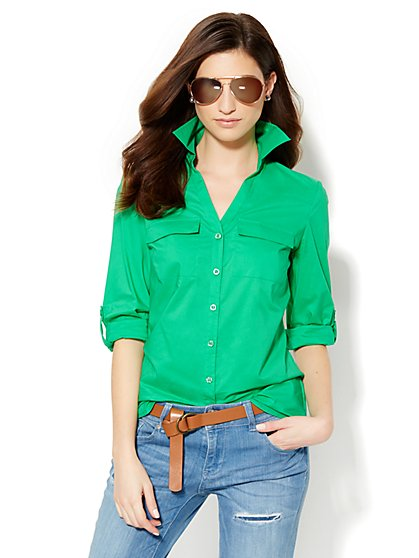 Soho Soft Shirt - Button-Back - Solid  - New York & Company