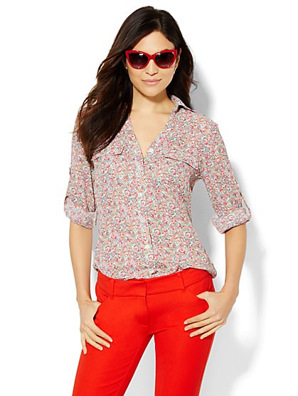 Soho Soft Shirt - Floral Print - New York & Company