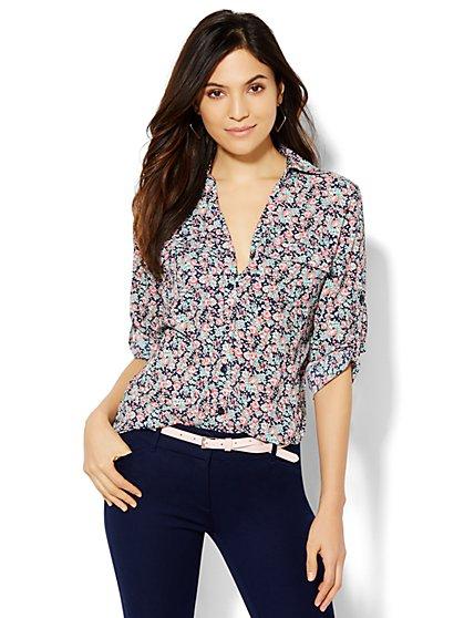 Soho Soft Shirt - Floral Print - New York & Company