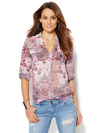 Soho Soft Shirt - Floral - New York & Company