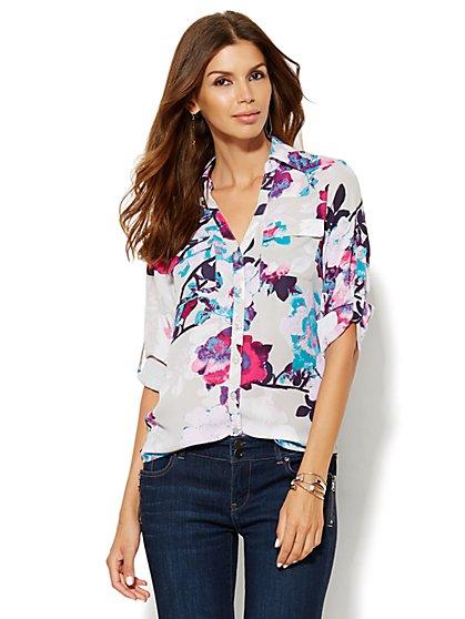 Soho Soft Shirt - Floral - New York & Company