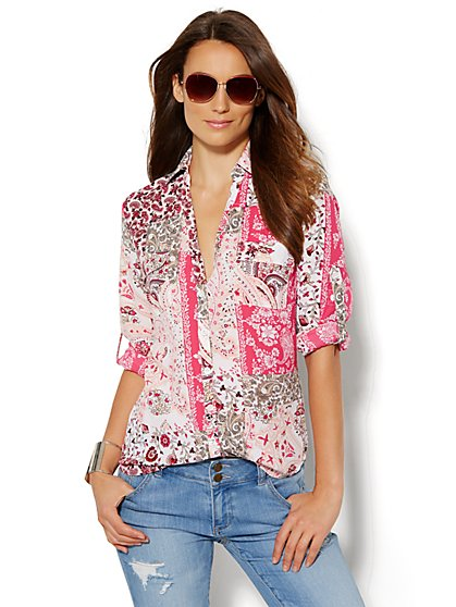 Soho Soft Shirt - Paisley Mix  - New York & Company