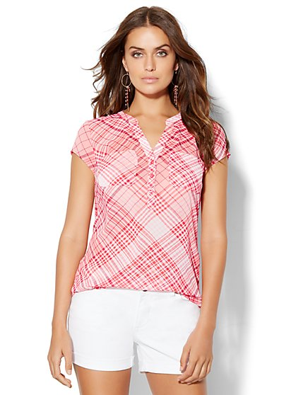 Soho Soft Shirt - Plaid  - New York & Company