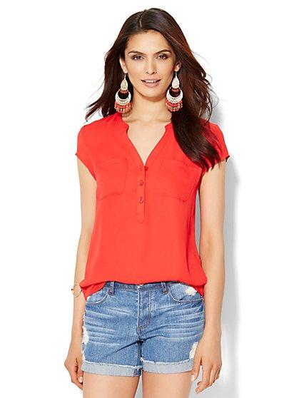 Soho Soft Shirt - Split Neck - New York & Company