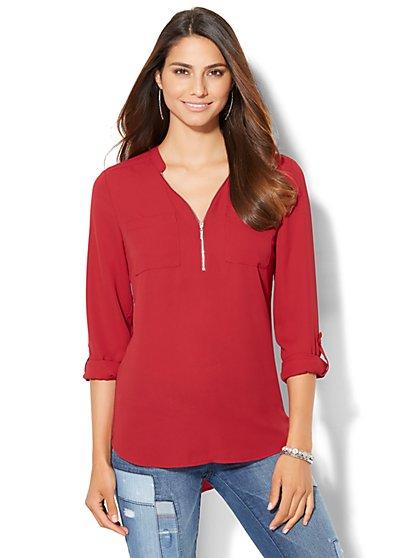 Soho Soft Shirt - Zip-Front  - New York & Company