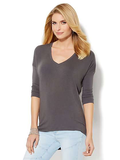 Soho Soft Tee - Hi-Lo Tee - New York & Company