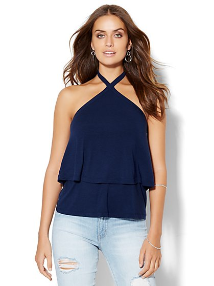 Soho Soft Tee - Tiered Halter Top  - New York & Company
