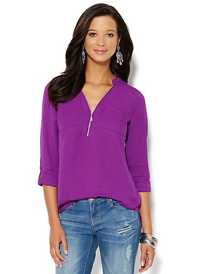 Soho Soft Tunic - Zip-Front - New York & Company