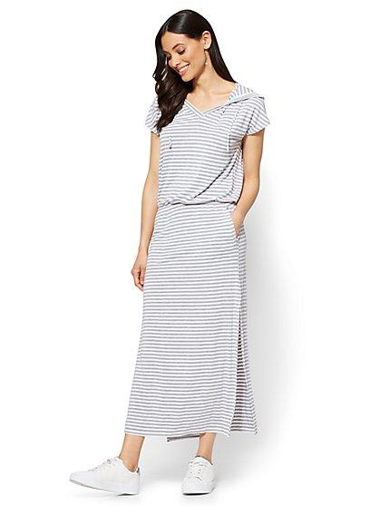 Soho Street Hooded Maxi Dress - New York & Company