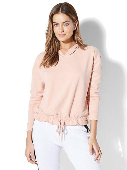 Soho Street Open-Back Sweatshirt - New York & Company