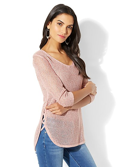 Soho Street Open-Weave Sweater - New York & Company