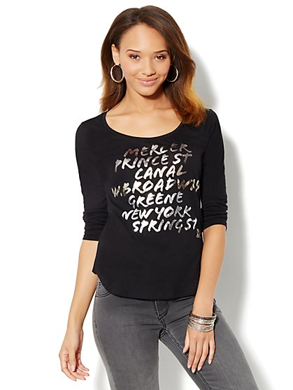 Soho Streets Logo Tee-Shirt - New York & Company