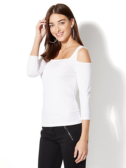 Soho Tee - Cold-Shoulder Top - New York & Company