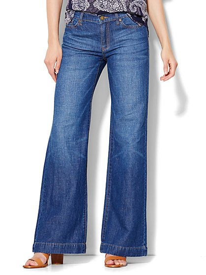 Soho Wide-Leg Jeans - Revolve Blue Wash  - New York & Company