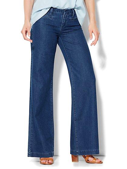 Soho Wide-Leg Jeans - Rinse  - New York & Company