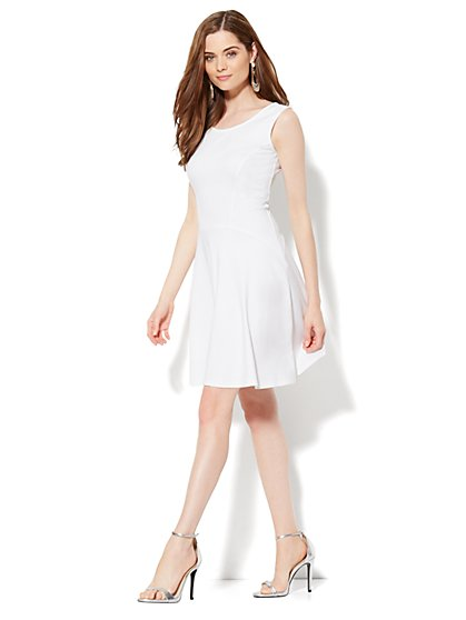 Solid Flare Dress - New York & Company