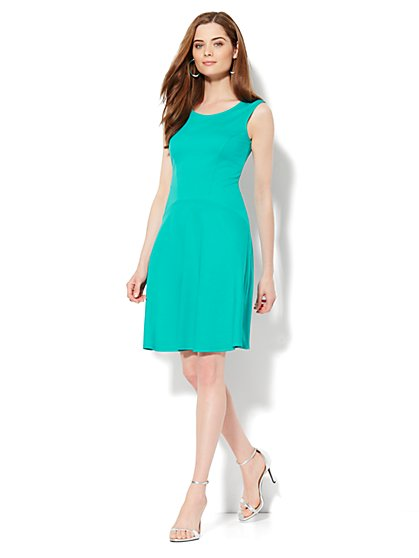 Solid Flare Dress