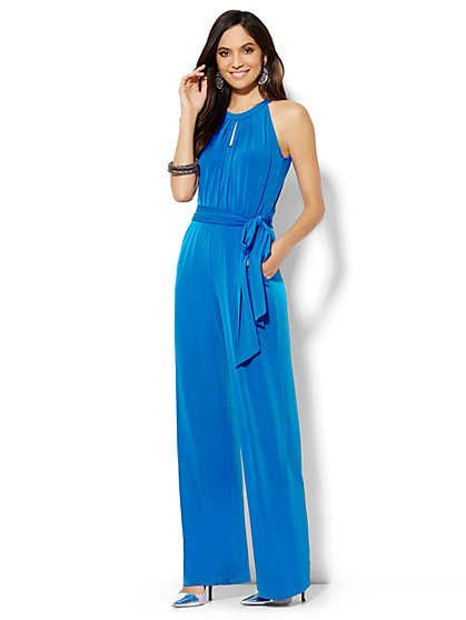 Solid Halter Jumpsuit  - New York & Company