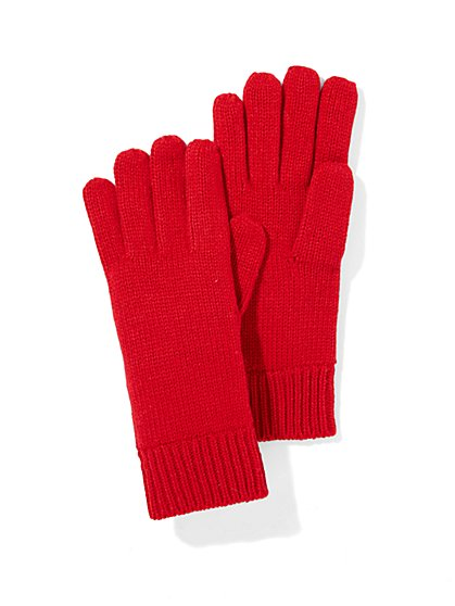 Solid Knit Glove   - New York & Company