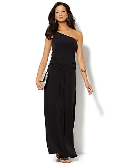 Solid Matte Jersey Maxi Skirt - New York & Company