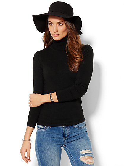 Solid Turtleneck  - New York & Company