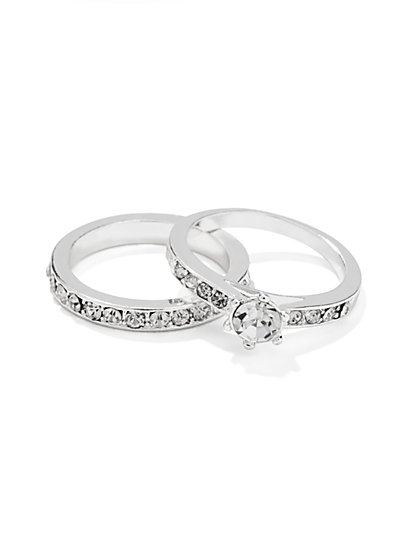 Solitaire Ring & Band Set  - New York & Company