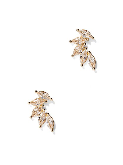 Sparking Marquise Post Earrings  - New York & Company