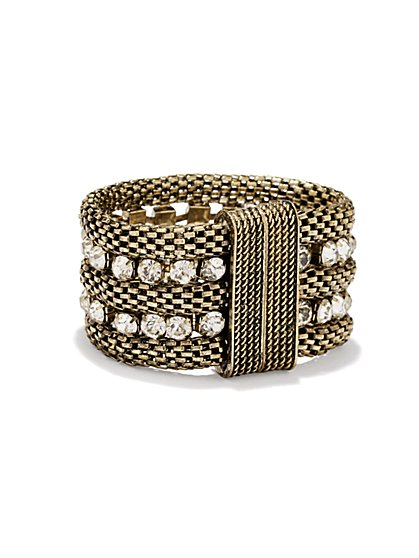 Sparkle Chain Mesh Bracelet - New York & Company
