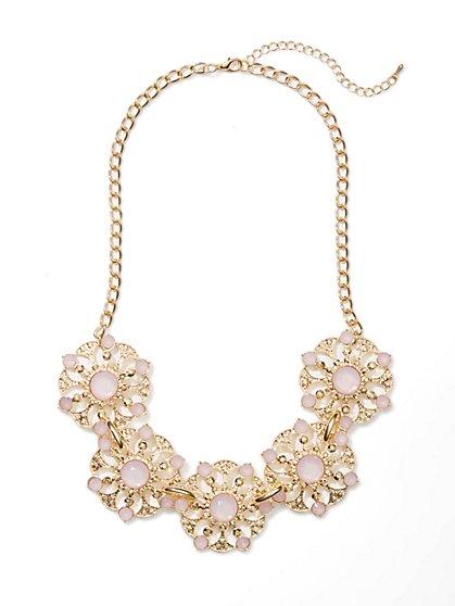 Sparkle Floral Bib Necklace - New York & Company