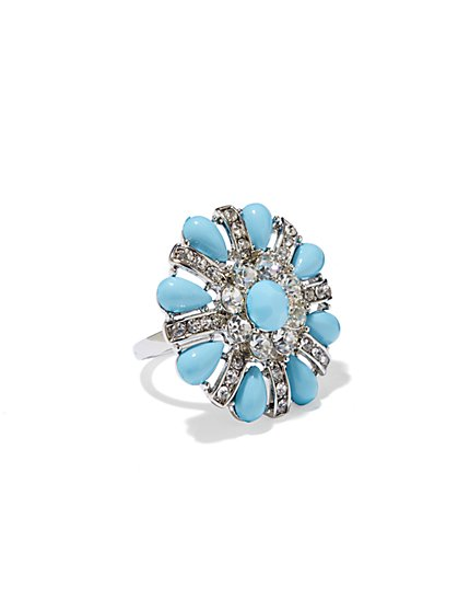 Sparkle Floral Stretch Ring