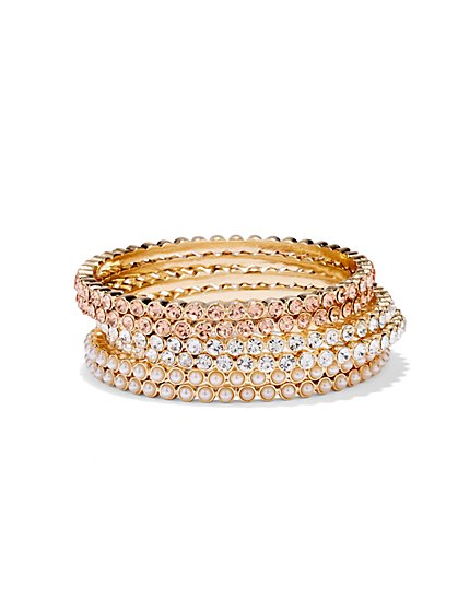 Sparkling 6-Piece Bangle Set  - New York & Company