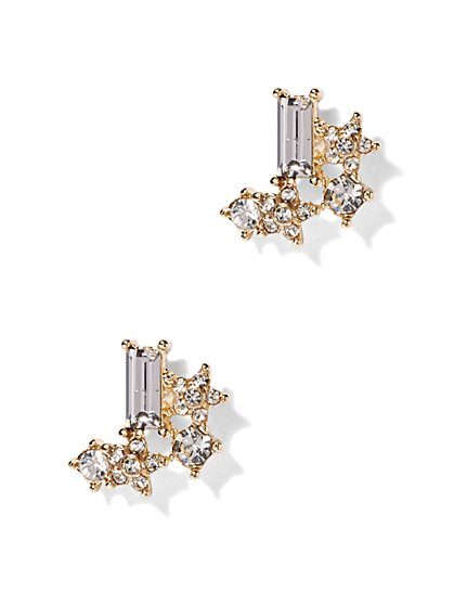 Sparkling Asymmetrical Post Earring  - New York & Company