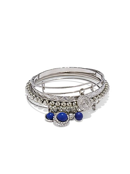 Sparkling Beaded Bangle Set  - New York & Company