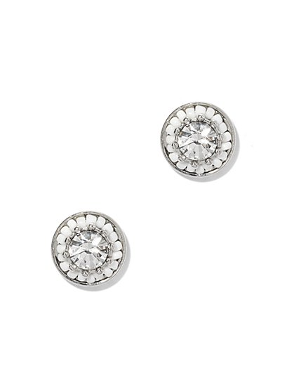 Sparkling Beaded Post Earring  - New York & Company