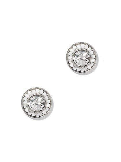 Sparkling Beaded Post Earring  - New York & Company