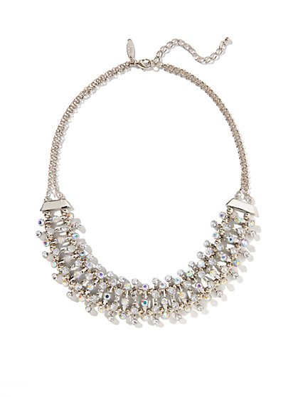 Sparkling Beads Collar Necklace  - New York & Company