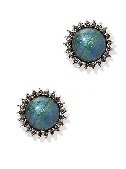 Sparkling Cabochon Post Earring  - New York & Company