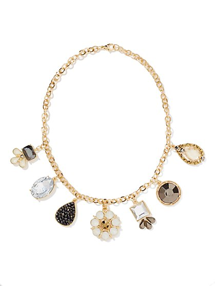 Sparkling Charm Necklace  - New York & Company