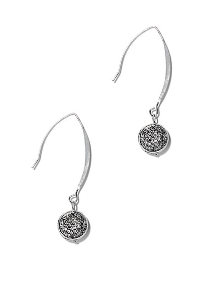 Sparkling Circle Drop Earring  - New York & Company