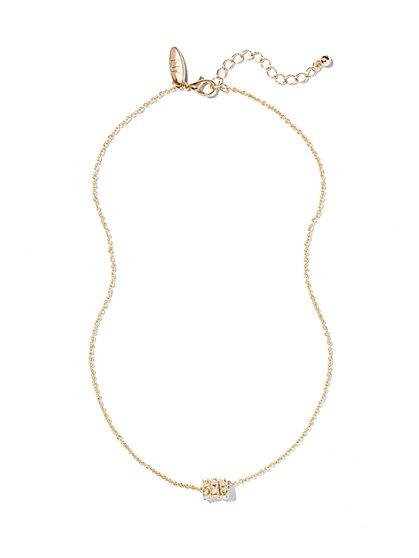 Sparkling Circle Pendant Necklace  - New York & Company
