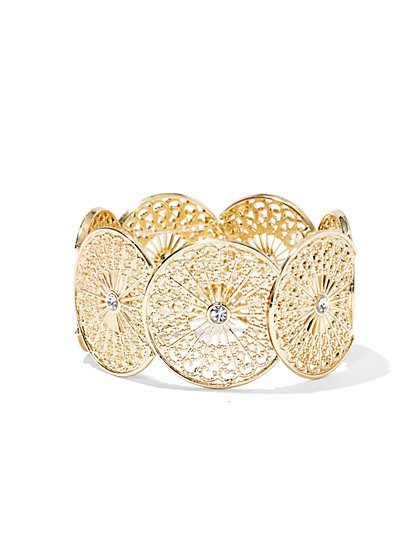 Sparkling Circular Stretch Bracelet  - New York & Company