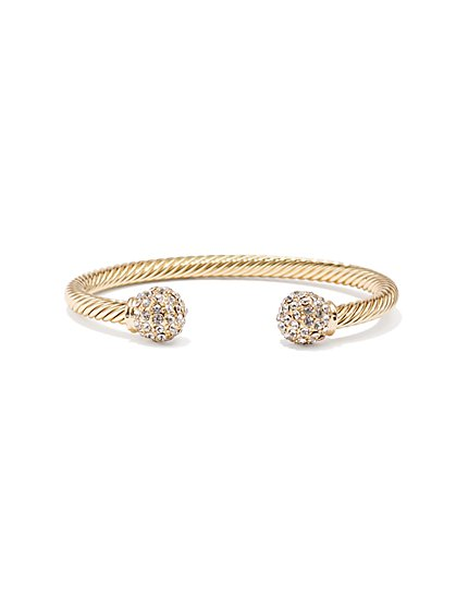 Sparkling Coil Cuff Bracelet  - New York & Company
