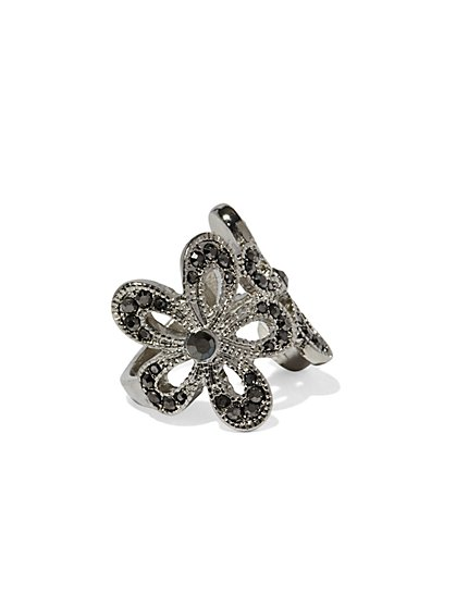Sparkling Double Flower Ring  - New York & Company