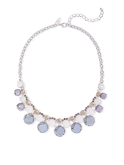 Sparkling Double-Row Collar Necklace  - New York & Company