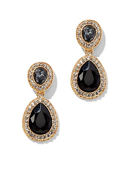 Sparkling Double-Teardrop Post Earring - New York & Company